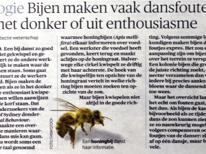 Bijen maken dansfouten