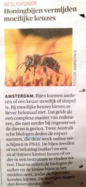 Bijen doen niet moeilijker dan nodig